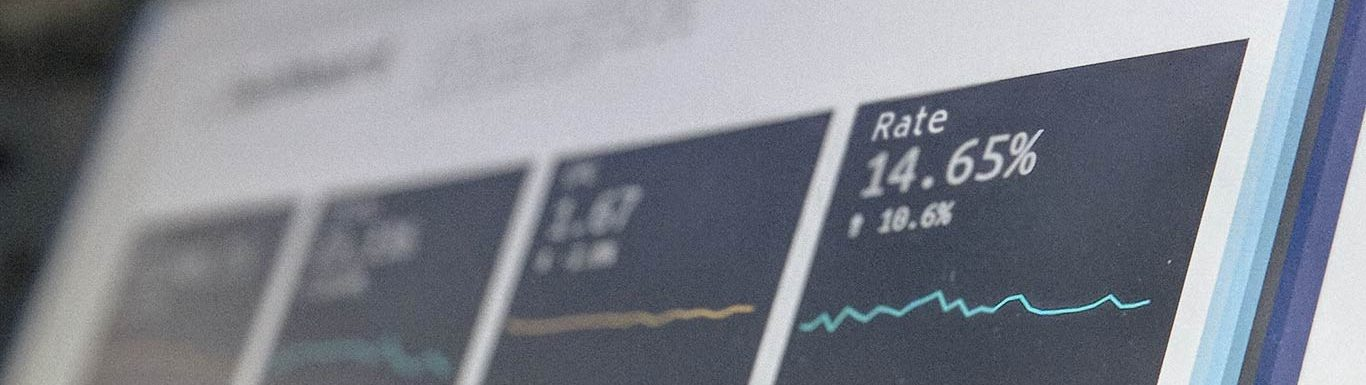 Ecran de contrôle affichant des données personnalisées